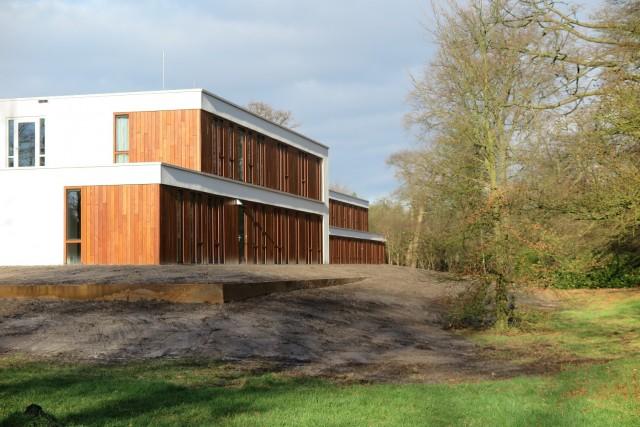 De complete gevel van Nieuw Hydepark in Doorn is voorzien van de brandvertragende impregnering van Fire Resistant Industries
