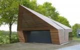 FSC Ipe garage onder architectuur gebouwd.
