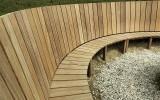 Cumaru toegepast in een houten banken