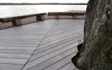 FSC ipe hout vergrijst onder invloed van het buitenklimaat tot zilvergrijs.